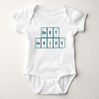 Body Para Bebé Tabla de elementos periódica:  Genio del bebé