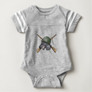 Body Para Bebé Tatuaje cruzado casco de los rifles del lobo gris