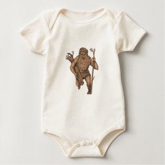 Body Para Bebé Tatuaje del personal de Runk del árbol de Leshy