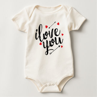 Body Para Bebé Te amo mono simple de la tarjeta del día de San