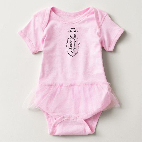 """Body Para Bebé """"Te amo"""" ovejas"""