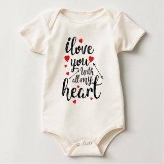 Body Para Bebé Te amo todo mi mono de la tarjeta del día de San