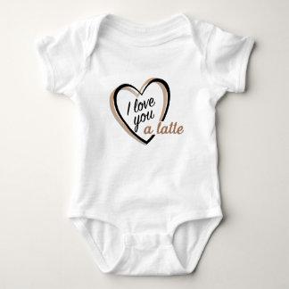Body Para Bebé Te amo un mono del bebé del latte el |