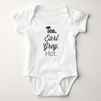 Body Para Bebé Té, temprano gris, caliente