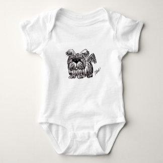 Body Para Bebé Tejido un perro de la fregona de polvo