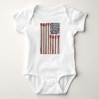 Body Para Bebé Tema patriótico de la música de la guitarra de la