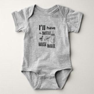 Body Para Bebé Tendré una botella del blanco Onezee de la casa
