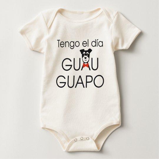 Body Para Bebé Tengo el día Guau - Guapo
