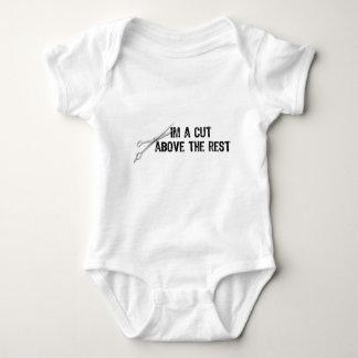 Body Para Bebé Texto-Yo que un corte sobre el resto con las