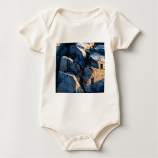 Body Para Bebé textura de la sombra de la roca