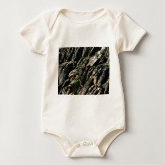 Body Para Bebé textura de las curvas de la roca