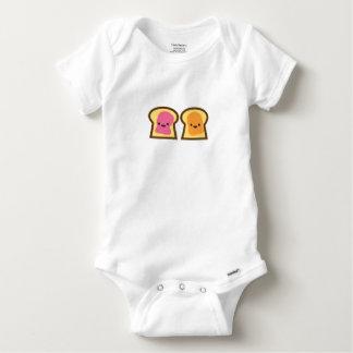 Body Para Bebé Tiempo de la jalea de la mantequilla de cacahuete