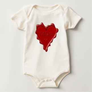 Body Para Bebé Tiffany. Sello rojo de la cera del corazón con