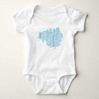 Body Para Bebé Tipo azul mapa de mayor Manchester