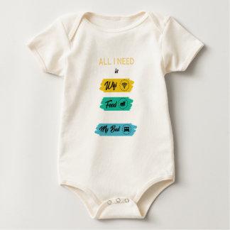 Body Para Bebé Toda lo que necesito es comida de Wifi y mi cama