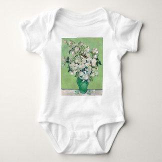 Body Para Bebé Todavía vida: Florero con los rosas - Vincent van