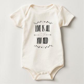Body Para Bebé Todo lo que usted NECESITA es amor