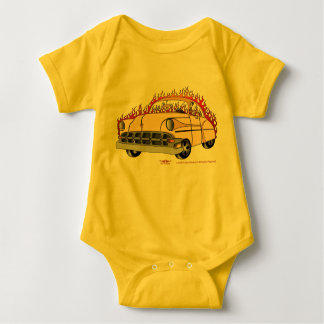 Body Para Bebé Tono '54 Chevy del beige dos en bebé de las llamas