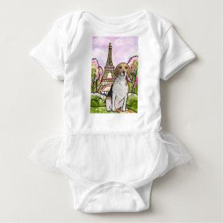 Body Para Bebé torre Eiffel París del beagle