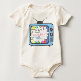 Body Para Bebé Traído a usted por la mamá y el papá - aparato de