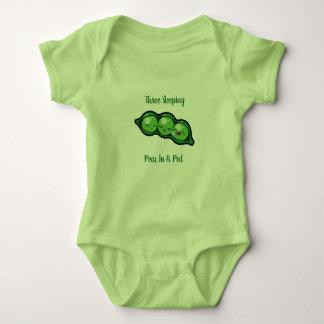 Body Para Bebé Tres guisantes el dormir en una vaina