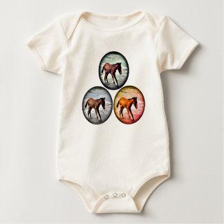 Body Para Bebé Tres potros en el mar, bebé juguetón visten