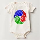 Body Para Bebé Triathlon TRI Yin Yang