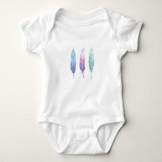 Body Para Bebé Trío de la pluma del Watercolour de Boho