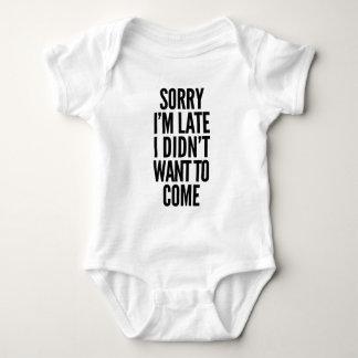 Body Para Bebé Triste soy atrasado, yo no quise venir