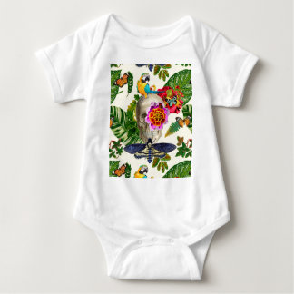 Body Para Bebé Tropical Skull