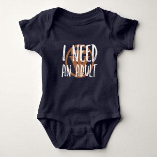 Body Para Bebé TrueVanguard - necesito a un adulto - juego del