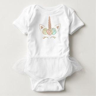 Body Para Bebé Tutú color de rosa del unicornio de la corona
