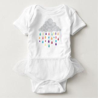 Body Para Bebé Tutú de Childs de la gota de agua del arco iris