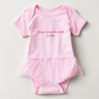 Body Para Bebé Tutú de una pieza rosado