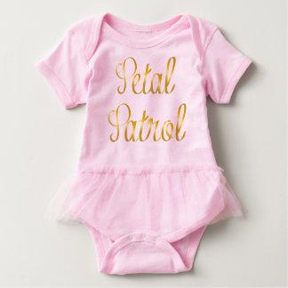 Body Para Bebé Tutú del bebé de la patrulla del pétalo en cinta