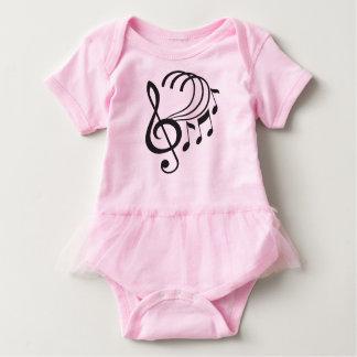 Body Para Bebé Tutú del volante de las notas de la música