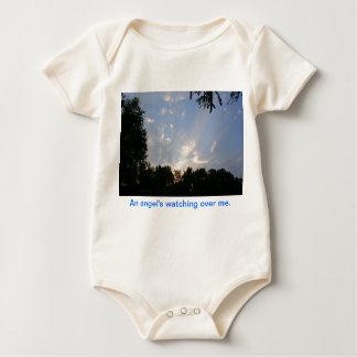 Body Para Bebé Un ángel que vigila mí onesy orgánico