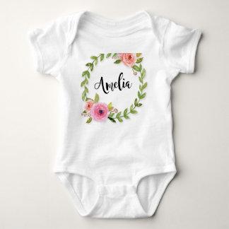 Body Para Bebé Una pieza con monograma del bebé