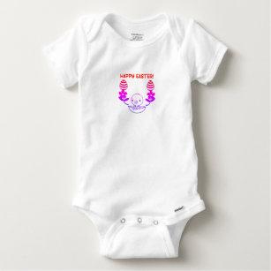 """Body Para Bebé Una pieza de """"Pascua feliz"""" del bebé"""