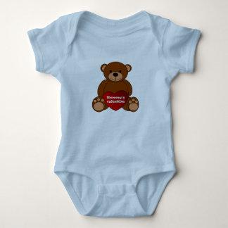 Body Para Bebé Una pieza del bebé de la tarjeta del día de San