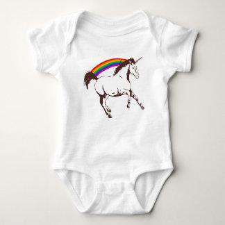 Body Para Bebé Unicornio con el arco iris