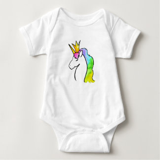 Body Para Bebé Unicornio mágico de la acuarela con la corona