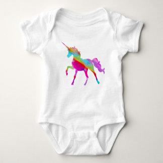 Body Para Bebé Unicornio prancing del arco iris brillante mágico