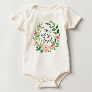 Body Para Bebé Usted es así que mono infantil floral amado de la