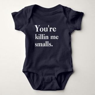 Body Para Bebé Usted es Killin yo las cargas fraccionadas