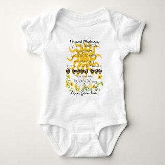 Body Para Bebé Usted es mi sol añade nombre