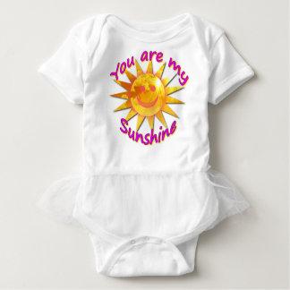 Body Para Bebé Usted es mi tutú de la sol