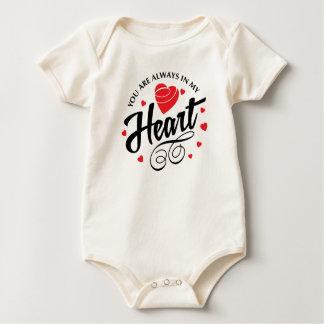 Body Para Bebé Usted está siempre en mi mono de la tarjeta del