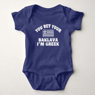 Body Para Bebé Usted le apuesta Baklava que soy griego