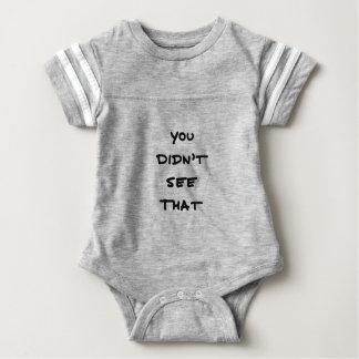 Body Para Bebé usted no vio eso